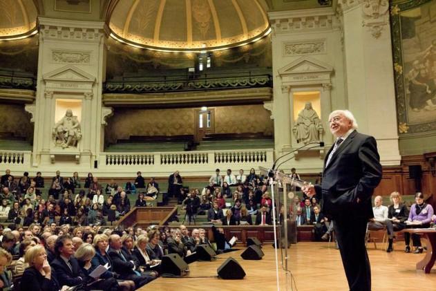 Conférence du Président d'Irlande Michael D. Higgins