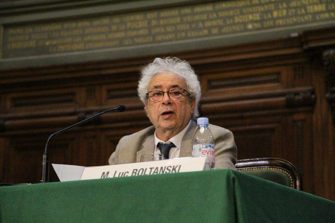 Luc Boltanski, intervenant de la 39e conférence Marc Bloch de l'EHESS.