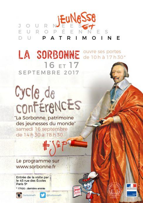 Affiche des JEP 2017 en Sorbonne.