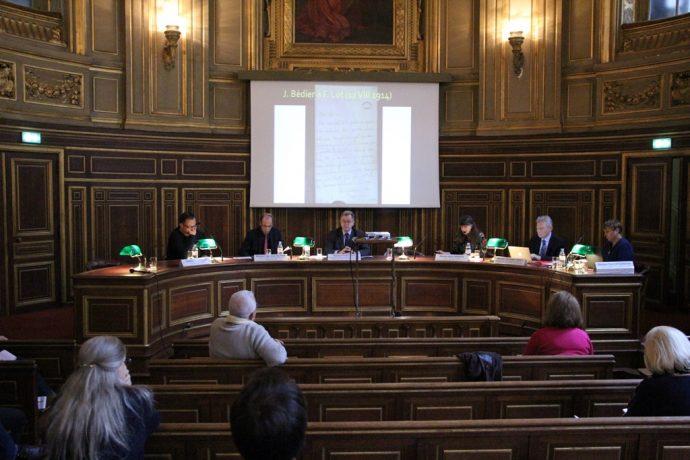Séance consacrée aux « Universitaires et étudiants », sous la présidence de Tristan Lecoq, inspecteur général de l'Éducation nationale, professeur associé à l'université Paris-Sorbonne.