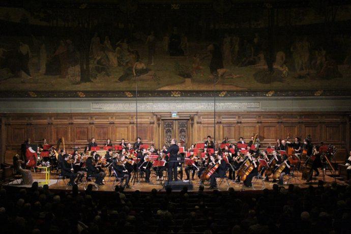 Concert de l'OCUP dans le grand amphithéâtre en Sorbonne.