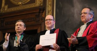 Albert II de Monaco fait Docteur Honoris Causa en Sorbonne