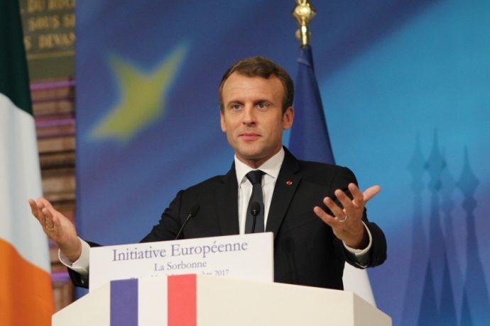 Emmanuel Macron, président de la République, a prononcé mardi 26 septembre 2017 en Sorbonne un discours sur l'Europe, appelant à sa refondation.