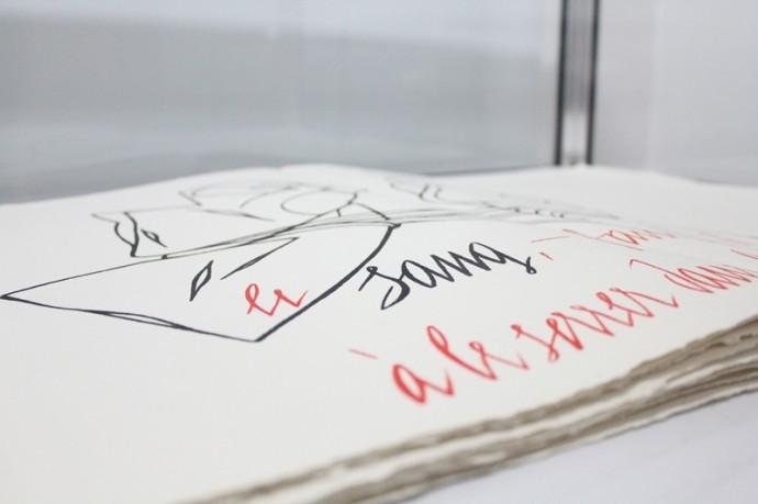 Jacques Dupin & Valerio Adami - Sang Texte de Jacques Dupin calligraphié et lithographié par Valerio Adami.