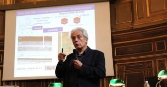Albert Fert en Sorbonne pour la Fête de la science 2014