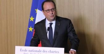 François Hollande inaugure le nouveau bâtiment de l'École nationale des chartes