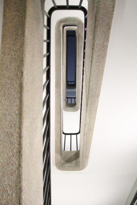 Inauguration de la Fondation Victor Lyon rénovée de la CiuP - un escalier au sein de la Fondation. Copyright Chancellerie des universités de Paris - Sylvain Lhermie