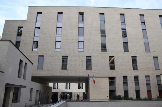 Une façade de la résidence Chevaleret.