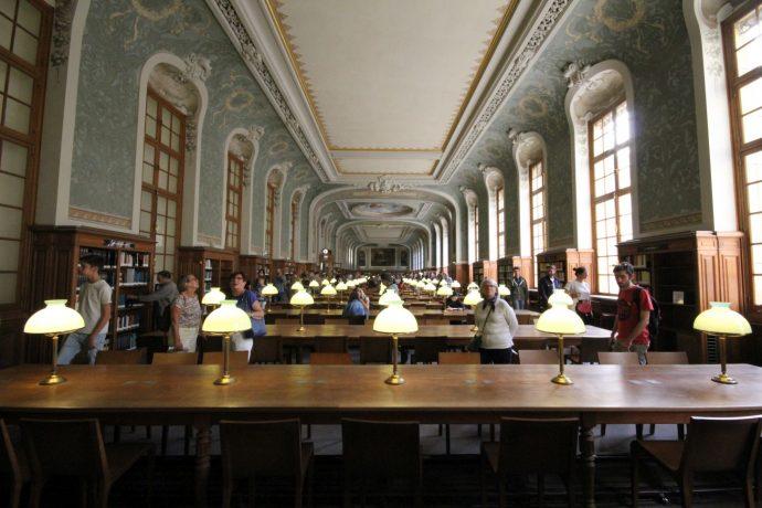 La Grande salle de lecture de la BIS en Sorbonne lors des JEP 2018.