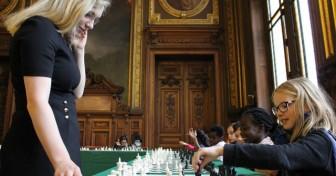 Jeu d'échecs en Sorbonne 2015