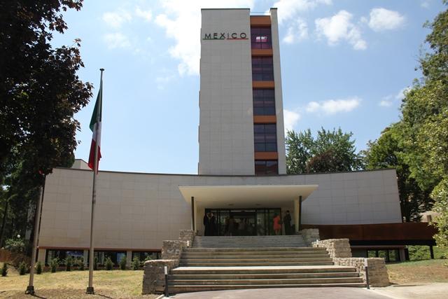 La façade principale de la Maison du Mexique.