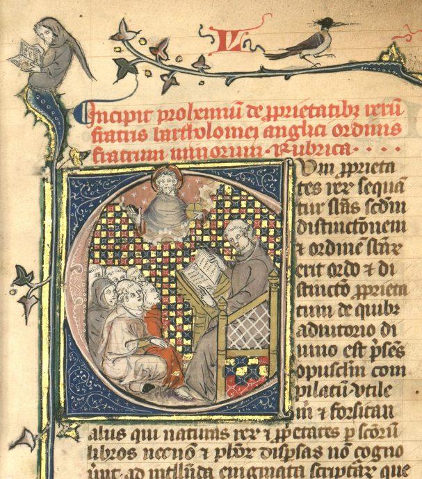 Manuscrit médiéval issu des collections de la Bibliothèque interuniversitaire numérisé pour le service NuBIS - © BIS