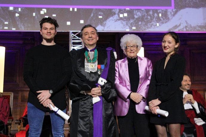 De gauche à droite, Yannis Zerad, Gilles Pécout, Yvette Roudy et Geneviève Dang lors de la cérémonie de remise des prix 2017.