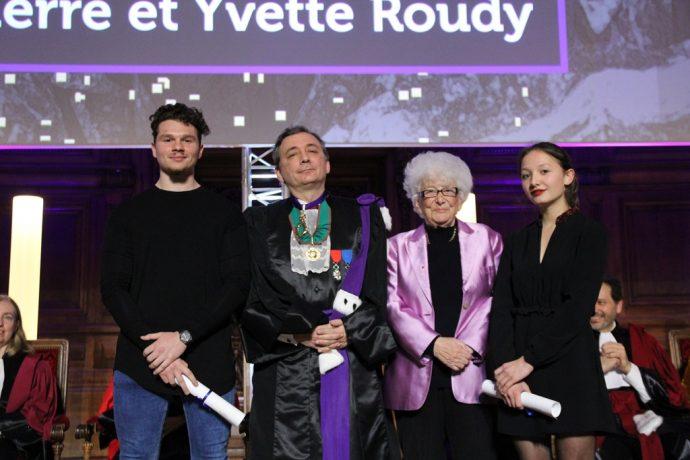 De gauche à droite, Yannis Zerad, Gilles Pécout, Yvette Roudy et Geneviève Dang lors de la cérémonie de remise du prix 2017.