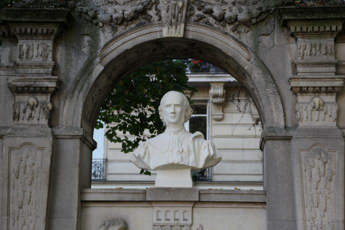 Le buste restauré d'Octave Gréard square Paul Painlevé.