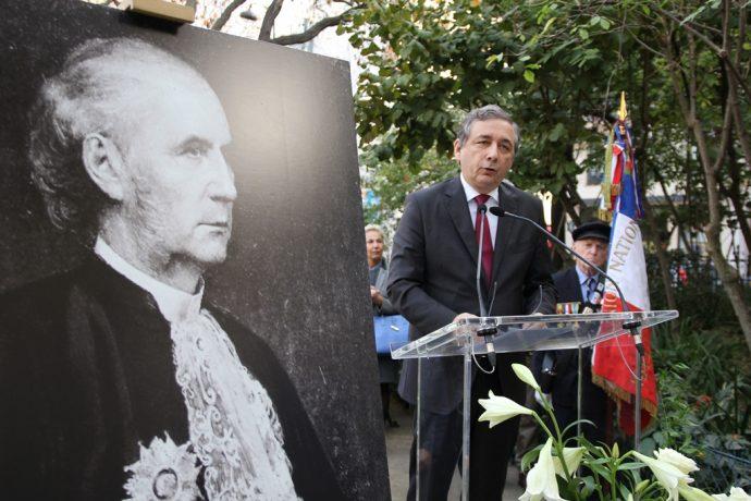 Discours du recteur Gilles Pécout lors de la cérémonie de réinstallation du buste d'Octave Gréard square Paul Painlevé.