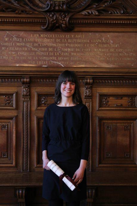 Colombe Boncenne, lauréate du prix Fénéon littéraire 2016 pour son roman Comme neige.