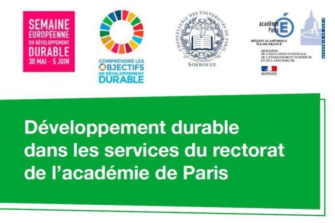 Visuel semaine européenne du développement durable pour la Chancellerie en 2017.
