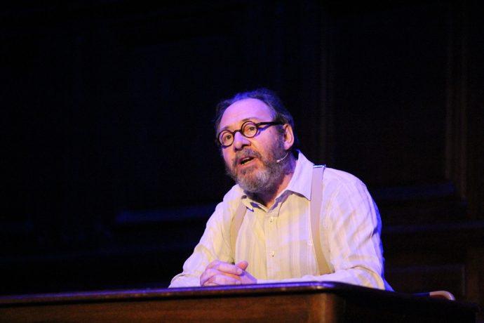 Hervé Pierre jouait le rôle de René Char lors de la soirée lecture Camus-Char en Sorbonne