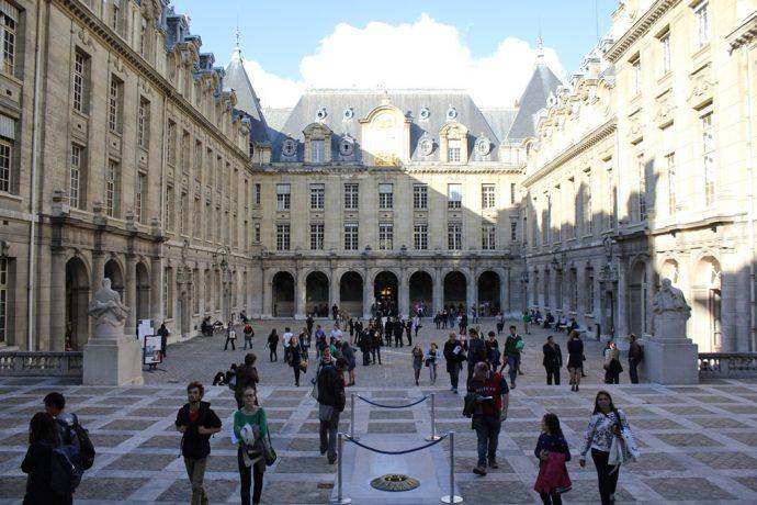 La Cour d'Honneur de la Sorbonne lors des Journées européennes du patrimoine.