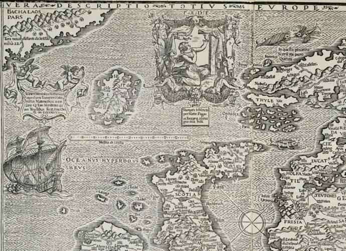 Carte issue des collections de la Bibliothèque interuniversitaire numérisée pour le service NuBIS - © BIS