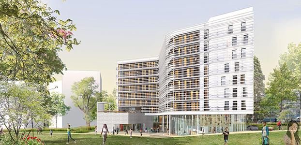 La façade de la future Maison de la Corée. © Ga.a architects et Canale 3