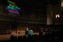 Michel Serres prononce en Sorbonne la conférence inaugurale du Programme Paris Nouveaux Mondes