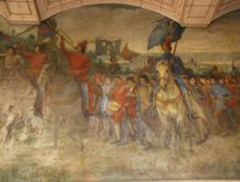Les peintures de la Cour d'Honneur restaurées avec le concours de l'Institut National du Patrimoine