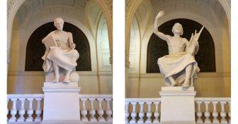 Campagnes de restauration de trois statues en Sorbonne