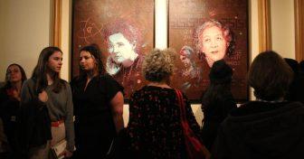 Sept œuvres de l'artiste C215 en Sorbonne, sept femmes mises à l'honneur