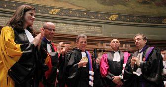 Le Président colombien Juan Manuel Santos fait Docteur Honoris Causa en Sorbonne