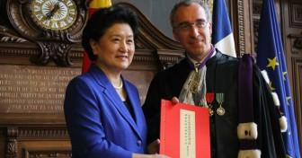 Accueil en Sorbonne de la Vice-Premier ministre chinoise Liu Yandong