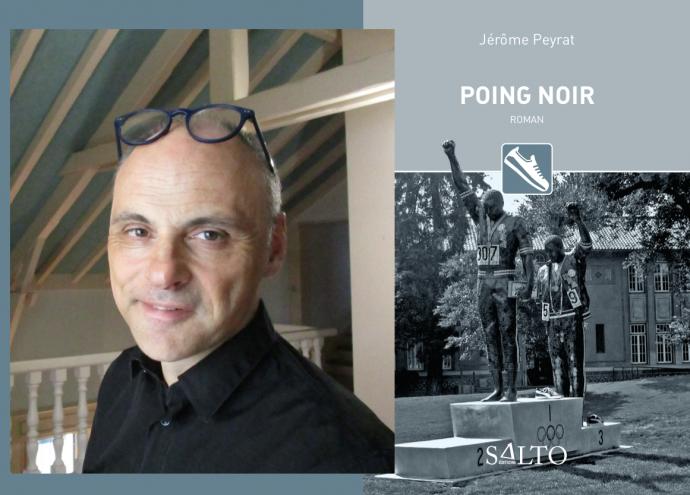 L'ouvrage lauréat du Prix Seligmann 2019 de la Chancellerie des universités de Paris : Poing noir de Jérôme Peyrat, paru aux éditions Salto en octobre 2018.