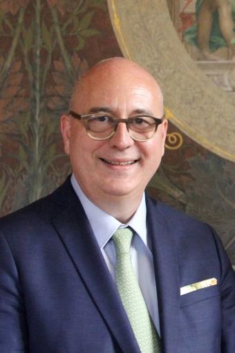 Portrait de Christophe Kerrero, recteur de la région académique Île-de-France, chancelier des universités, recteur de l'académie de Paris.