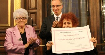 Marceline Loridan-Ivens reçoit le prix Seligmann