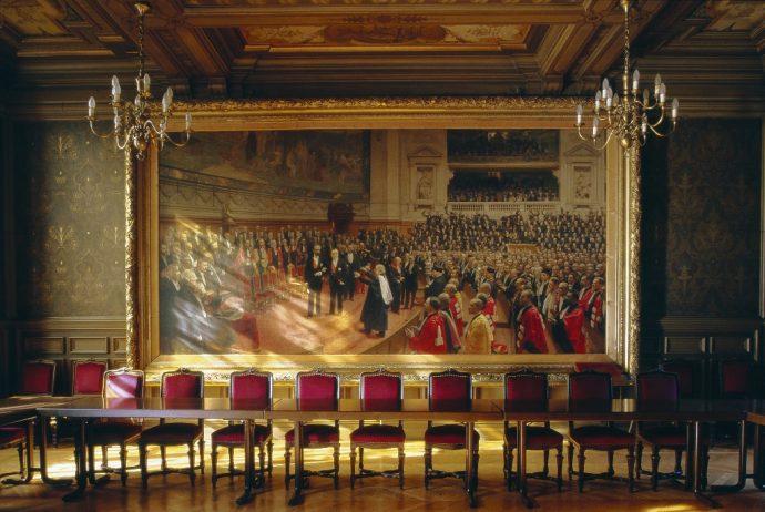 Le Jubilé de Pasteur par Jean André Rixens dans la salle Gréard.