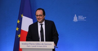 François Hollande inaugure l'Institut Pierre-Gilles de Gennes
